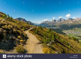 100 Muottas Muragl Hiking Trail Pontresina Upper Engadin Canton Of