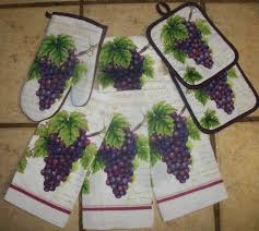 7 Piece Grape Clusters Kitchen Towel Set By Mainstay 1999
