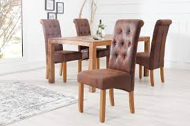 dunord design esszimmerstuhl 2er set braun vintage stuhl