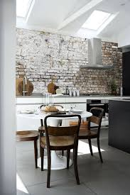 KitchenClassic Brick Wall Backsplash In The Rustic Kitchen Combines Two Hot Design Also