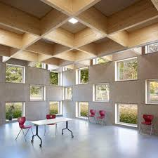 Tectum Concealed Corridor Ceiling Panels by Salmtal Secondary Canteen By Spreiertrenner Architekten