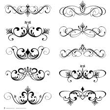 Digital Clip Art Clipart Vintage Inspired Flourish Swirls Scrapbook Wedding Decorations Embellishment Classic Designs Border 10094 January 2014 At
