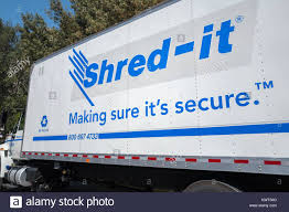 Logo On A Mobile Shredding Truck For The Document Destruction ...