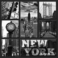 assemblage de 7 pièces new york en noir et blanc home photo