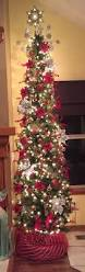 9 Ft White Pencil Christmas Tree by Decorating A Skinny Christmas Tree Implausible 7 Slim Prelit White
