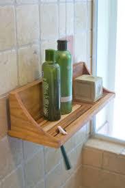 Best Teak Bath Caddy by Teak Shower Shelf Buy From Gardener U0027s Supply
