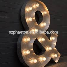 custom made led bulb light signs vintage marquee sign for