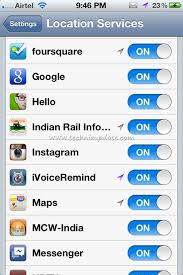 Remove Location Services Arrow Icon In iPhone Status Bar
