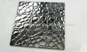 wall design ideas silver modern wall 3d metal decor
