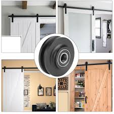 2Pcs Sliding Barn Door Wheel Closet Roller Cabinet Window Pulley ... How To Mount A Barn Door Using Tc Bunny Hdware From Amazon Doors Looks Simple And Elegant Lowes Rebecca Interior Sliding Locks For Bypass Pulley Asusparapc Suppliers And Manufacturers At Track Wheel Roller Pair Ironandalloy Pulleys Modern A Small Closet This Is The Industrial Minimalist Sliding Barn Doors Ideas For The House To Get Privacy Add Lock Your