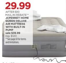 JCPenney Black Friday JCPenney Home Queen Deluxe Air Mattress w