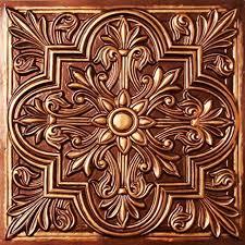 Antique Ceiling Tiles 24x24 by Amazon Com Drop Ceiling Tiles 2x2 302 Antique Copper Faux