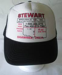 Vintage STEWART TRUCK PARTS Hat Trucker Hat PARTS Cap Shawnee OK ...