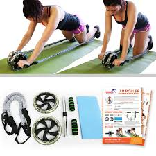 Ab Machines for Home Ab Roller with Resistance Bands
