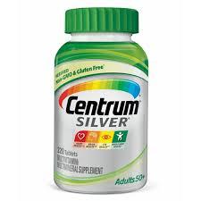 Centrum Silver Adult 220 Count Multivitamin Multimineral Supplement Tablet Vitamin D3