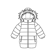 Baby clothes icons Clothing for winter vector art illustration