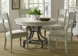Harbor View Round Table With 4 Slat Back Chairs Set By Liberty Furniture At  Furniture And ApplianceMart