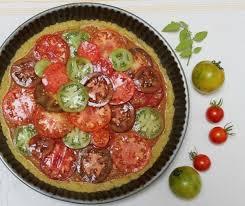 tarte aux tomates anciennes et nouvelles avec pâte à tarte à l