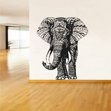 Wall Decal Vinyl Sticker Decals Art Decor Design Elephant Mandala Ganesh Indian Buddha Pattern Damask Bedroom