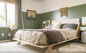 Before After Modern Eclectic Bedroom Makeover Ideas Wall Decor Woodworking Projects