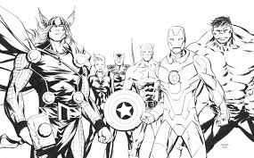 Draw Marvel Avengers Coloring Pages