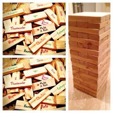 Drunk Jenga Tile Ideas by Yard Jenga With A Twist Make A Drinking Game We Added Captions