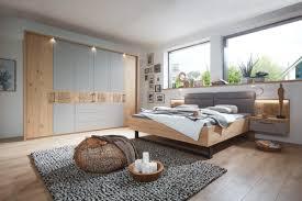 mondo barino schlafzimmer balkeineiche echtholz furniert mit absetzung in lack taupe 8110000200