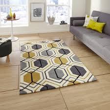 handgetufteter teppich tamarisk in grau gelb teppich gelb