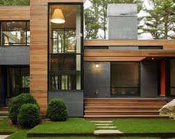 100 Modern Wooden House Design Material Exterior Simple Rectangular Shape Olpos