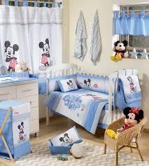 baby blue mickey mouse dance crib bedding set 4pc bedding set 1