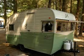Green And White Shasta Camper