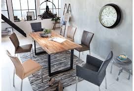 sit tische bänke tisch 120 x 120 cm gestell schwarz platte natur gestell antikschwarz