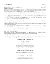 Elementary Teacher Resume Examples 2013 Education Resumes Template Example Section Teachers Templates Free Download Educat
