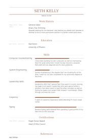 Labor Resume General Samples