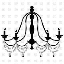 Retro Cryctal Chandelier With Candles Royalty Free Vector Clip Art