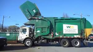 WM-Waste Management Front Loader Truck-208436 Part 1 - YouTube
