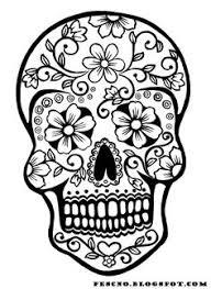 Sugar Skull Pumpkin Carving Patterns by Black And White Geometric Seamless Pattern Simple Regular