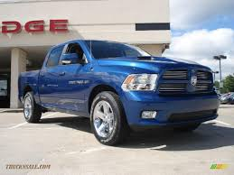 100 Blue Dodge Truck 2011 Ram 1500 Sport Crew Cab 4x4 In Deep Water Pearl