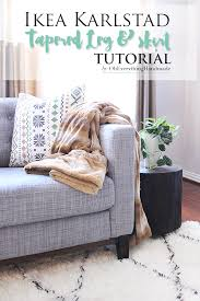 Karlstad Sofa Legs Etsy by How To Tuft Button Your Ikea Karlstad Cushions Oh Everything