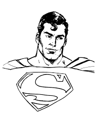 Handsome Classic Superman Coloring Page