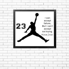 Michael Jordan Poster Inspiring Quotes Wall Art Canvas Painting Picture Cuadros Kids Decor No Frame In Calligraphy From