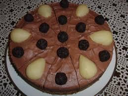 birnen rumkugel torte