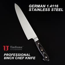 couteau de cuisine professionnel japonais professionnel 8 pouce chef couteau pour cuisine allemagne 4116 acier
