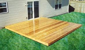 16 x 16 patio style deck building plans only at menards