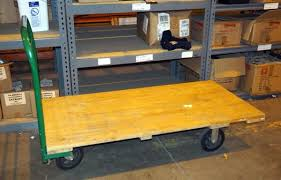 Lot 491 Of 537 Uline Rolling Hand Cart Qty 1 30 X 60