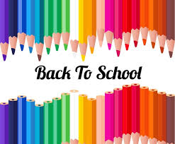 Back To School Template With Various Colorful Pencils