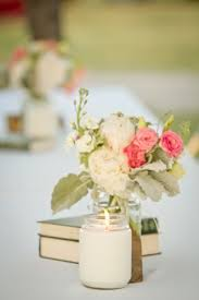 Pretty Vintage Rustic Centerpiece Simple A White Candle And 2 Books