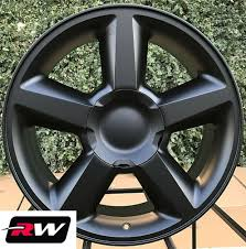 100 20 Inch Truck Rims Inch RW 5308 Wheels LTZ For Chevy Matte Black 6x1397