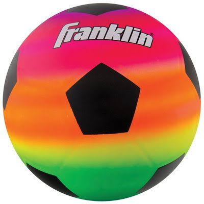 Franklin 19492511 Sports Vibe PVC Rainbow Soccer Ball - 8.5""