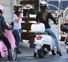 Wait For Me Kourtney Was The Last To Get On Bikes After Putting